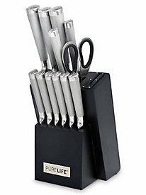 13 pc. Forged Stainless Steel Cutlery Set with Sharpener