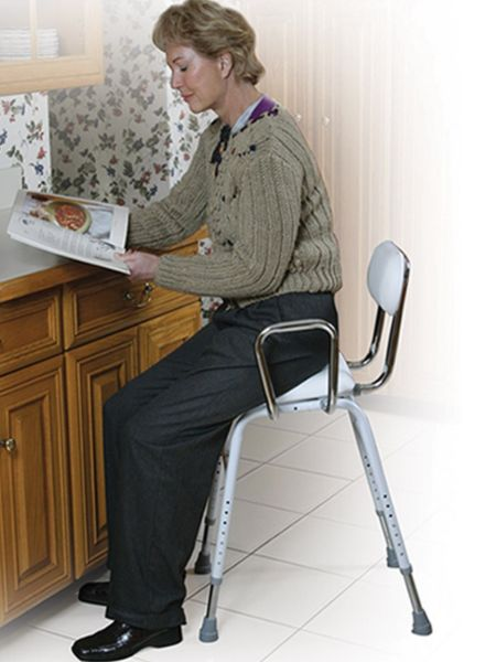 All Purpose Stool With Adjustable Arms Haband