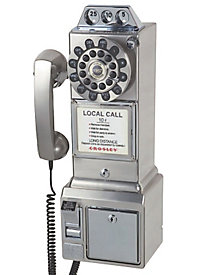 Crosley Chrome Pay Phone