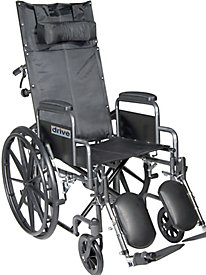 "16"" Silver Sport Full Reclining Wheelchair"