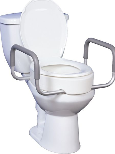 Raised Toilet Seat With Removable Arms For Elongated Toilets Haband