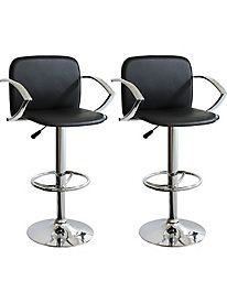 AmeriHome Black Adjustable Height Bar Stools