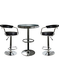 AmeriHome 3 Piece Soda Fountain Style Bar Set