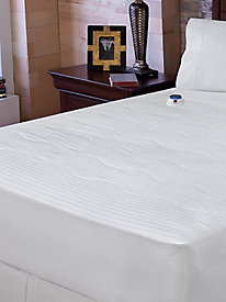 Soft Heat 233ct Dobby Stripe Mattress Pad