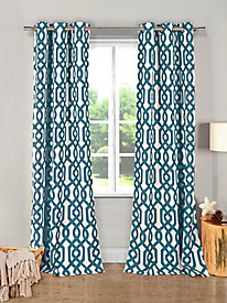 Printed Textured Grommet Window Panels - Ashmont