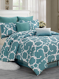 Hotel Style Quilted Oversize & Overfilled Comforter Set - Rhys