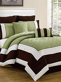 Hotel Style Quilted Oversize & Overfilled Comforter Set - Spain