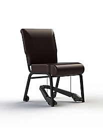 Armless Metal Chair with Royal-EZ Mobility Assist 20-inch