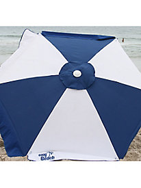 7-Foot Round Blue & White Beach Umbrella