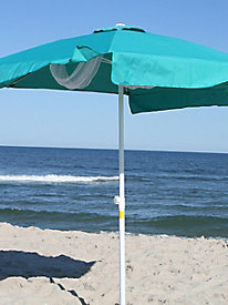 7-Foot Round Aqua Beach Umbrella