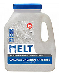 MELT 10 Lb. Jug Calcium Chloride Crystals Ice Melt