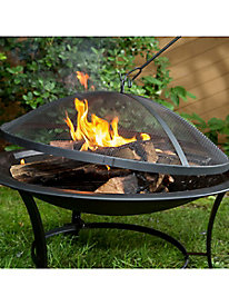 Sun Joe® 30-in. Fire Pit w/Dome Screen and Poker
