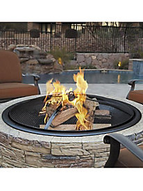 Sun Joe® 35-in. Cast Stone Fire Pit w/Dome Screen and Poker, Charcoal Stone