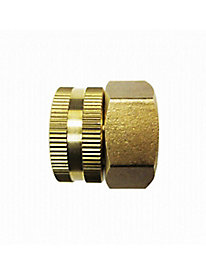 Dual-Swivel Brass Connector.
