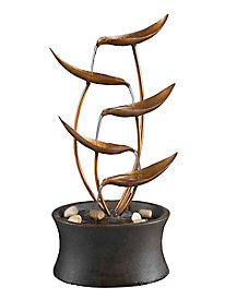 Metal Leaf Tabletop Fountain