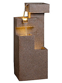 Sand Stone Cascade Tires Indoor/Outdoor Lighted Fountain