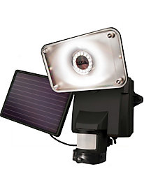 Maxsa Secure Motion-Activated Solar Security Camera and Floodlight - Black