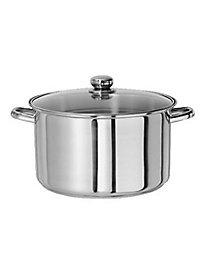 Gourmet Chef 6 Quart Stainless Steel Stock Pot with Glass Lid