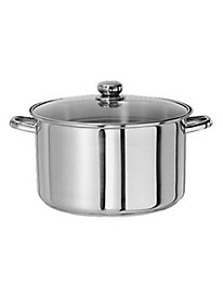 Gourmet Chef 10 Quart Stainless Steel Stock Pot with Glass Lid