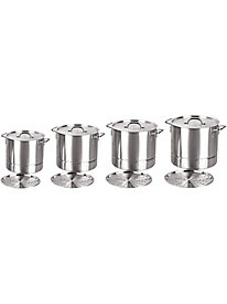 Gourment Chef 4 Piece Stock Pot Sets with Steamer