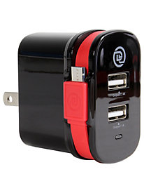 Dual Output Wall Charger w/ Micro USB Cable