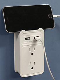 ChargeIt! Dual Outlet Wall Valet