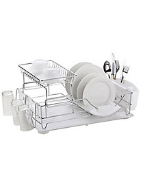 Home Basics 2-Tier Deluxe Dish Drainer