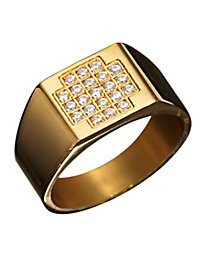 18k Gold-Plated Faux Diamond Ring