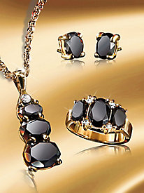 Genuine Black Onyx Jewelry Set
