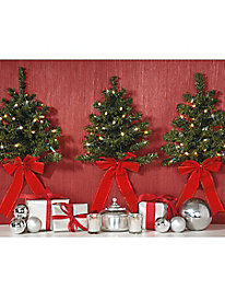 Set of 3 Cordless Wall Trees