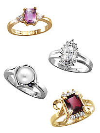 Genuine Gemstone Rings