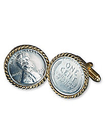 Nationography Coin Cufflinks & Tie Clips