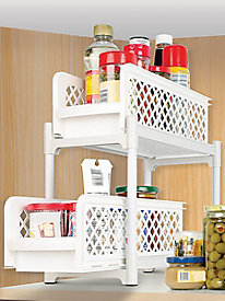 Ideaworks� 2-Tier Basket Caddy