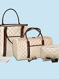 Travelista 3-Piece Quilted Luggage Set