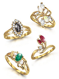 Allure Genuine Gemstone Rings