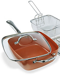 5-Pc Copper-Infused Non-Stick Ceramic Pan Set