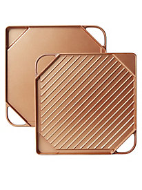 Copper-Infused Ceramic Non-Stick Griddle and Grill