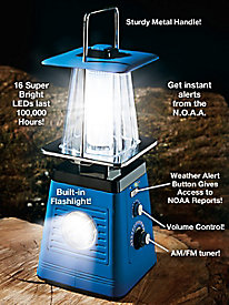 3-in-1 Emergency Weather Tuner with Radio & Lantern