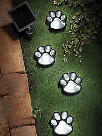 Ideaworks� LED Solar Paw Print Lights