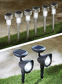 Sharper Image® Outdoor LED Solar Lighting