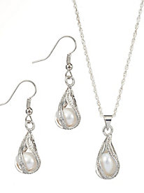 Swirls of Pearls Set