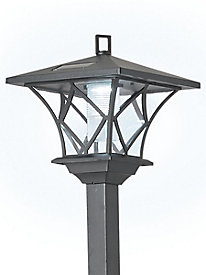 Ideaworks® 2-in-1 LED Solar Lamp Post