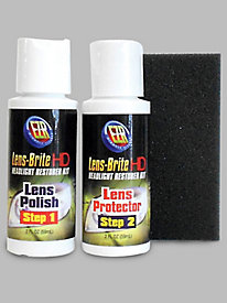 E-Z-R Cleaner Lens-Brite HD Headlight Restorer Kit