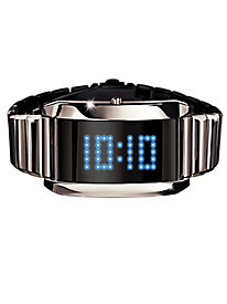 Silver Scroller LED Digital Watch