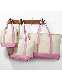 Heavyweight Canvas 3-Pc. Tote Bag Set