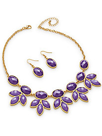 Purple Petals Jewelry Set