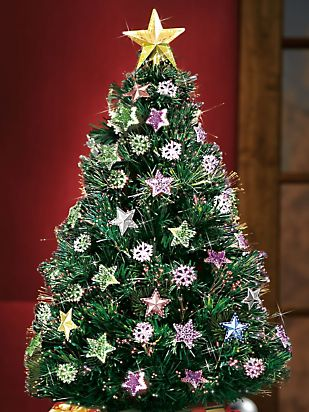 Fiber Optic Rotating Christmas Tree | Haband