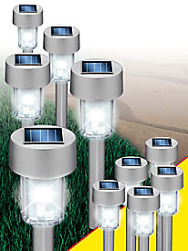 Set of 10 Solar-Powered Lights