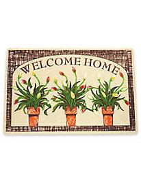 Welcome Mat Flower Pots