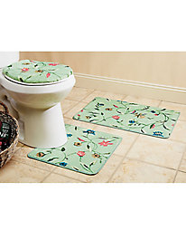 3-Pc. Bathroom Rug Set Lid, Contour, & Mat!